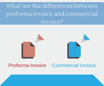 what are the differences between proforma invoice and