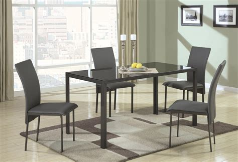 Glass And Metal Dining Tables Shelby Black Metal And Glass Dining Table A Sofa Furniture Outlet Los Angeles Ca