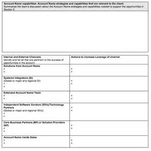sales account planning template go to market strategy strategic account plan template