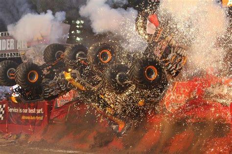 monster truck backflip videos maximum destruction backflip x 3 monster trucks