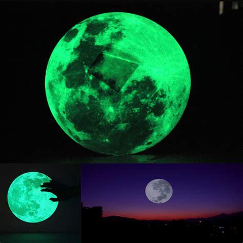 glow in the moon wall sticker 30cm large moon wall sticker removable glow in the