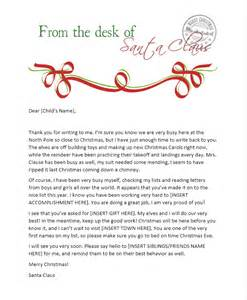 Microsoft Word Santa Letter Template Free Printable Letters From Santa Amp His Elves The Shady Lane