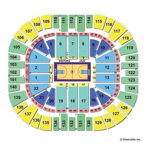 arena seating chart vivint smart home arena salt lake city ut seating chart