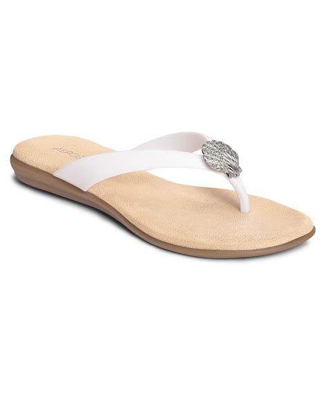 aerosoles sandals sale aerosoles s chlarity sandals in white save 50 lyst