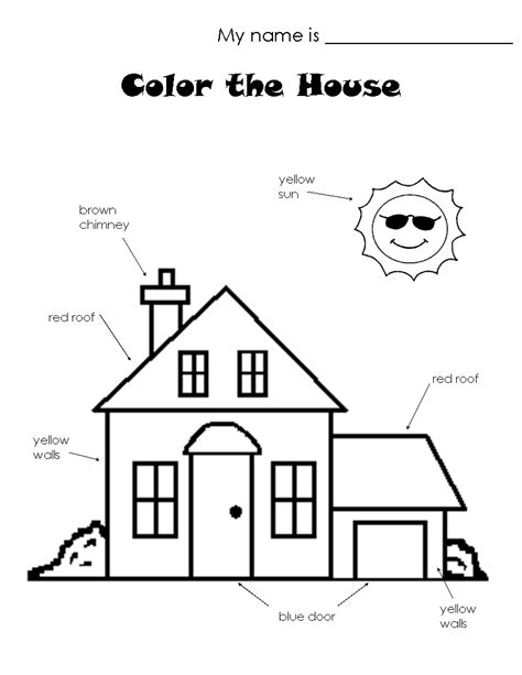 kindergarten activities my house house worksheets the house worksheet house lesson