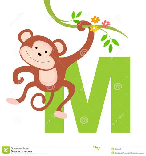 lettere con animali animal alphabet m stock vector image of artistic