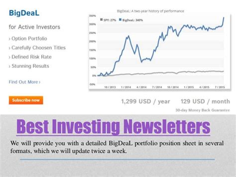 best stock newsletters best investing newsletters