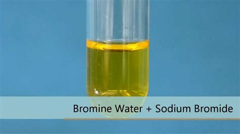 what color is bromine bromine water sodium bromide