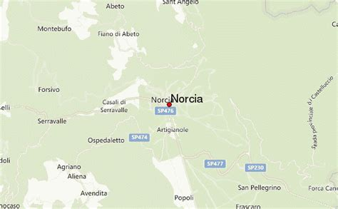 norcia italy map norcia location guide