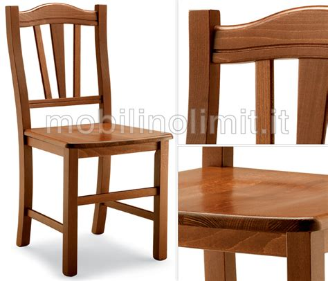 sedute in legno sedia classica con seduta in legno