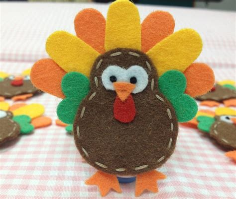 Handmade Felt Craft Patterns - set of 6pcs handmade felt turkey chocolate pumpkin ft933