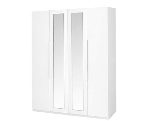 White High Gloss Wardrobes by Trend 4 Door White High Gloss Wardrobe