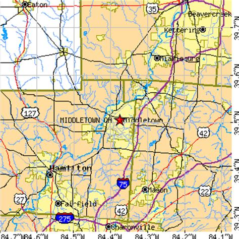 map of middletown ohio middletown ohio oh population data races housing