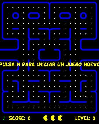 juego pacmac en html5 carrero