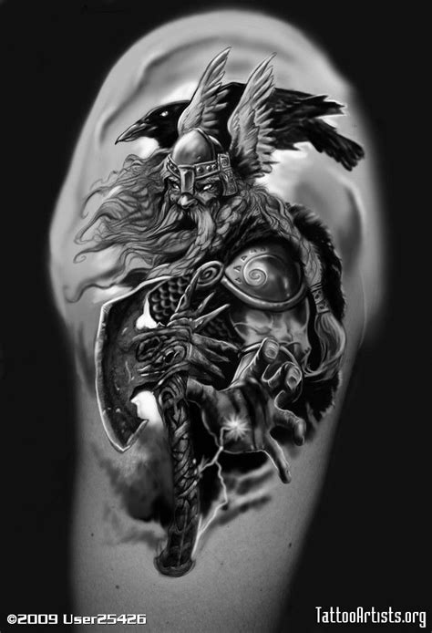 norse raven tattoo norse god for the img189889 odin 1 odin tattoos