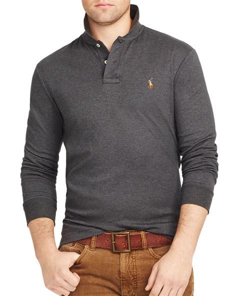 Sleeve Polo lyst ralph polo sleeved pima soft touch polo