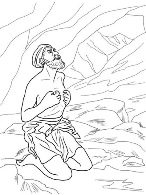 Elijah Hearing God's Whisper in a Still Small Voice