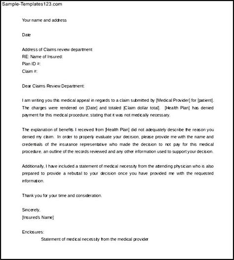 Appeal Letter Of Necessity Appeal Letter Template For Necessity Word Format Sle Templates