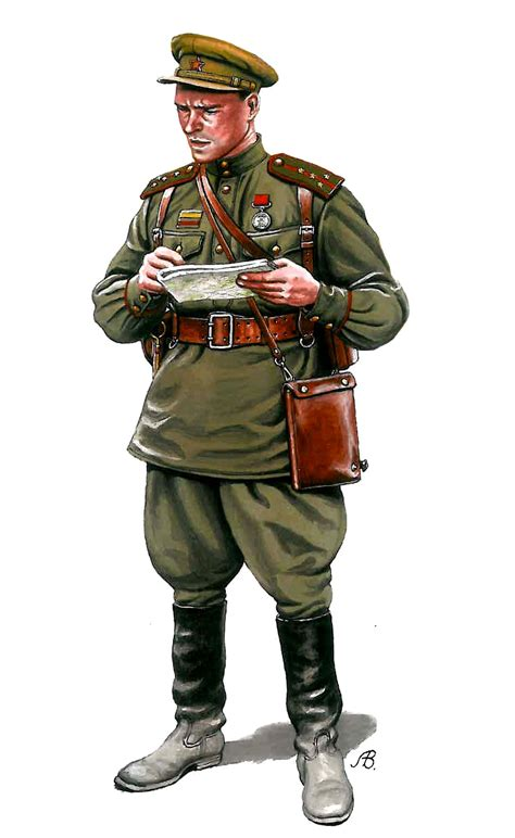russian military uniforms soviet captain 1943 wwii infantry pinterest military