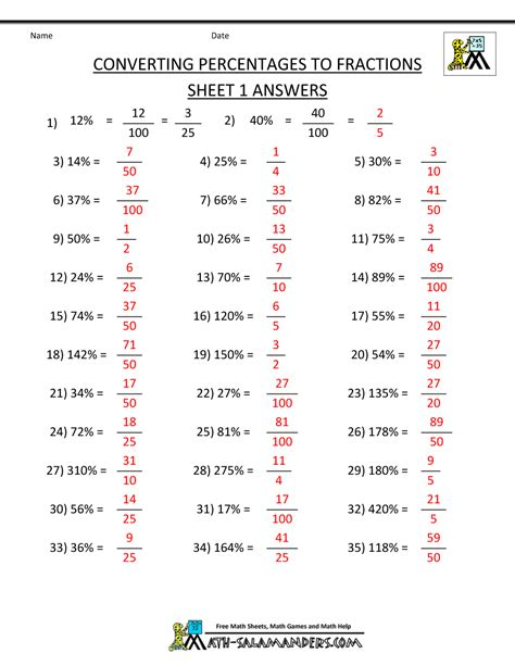 percentages and fractions worksheets converting fractions into decimals worksheets fractions worksheets printable for