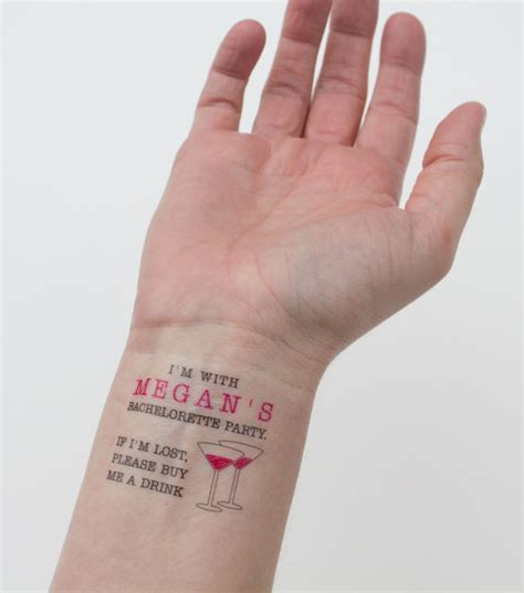 bachelorette temporary tattoos temporary bachelorette quot if i m lost