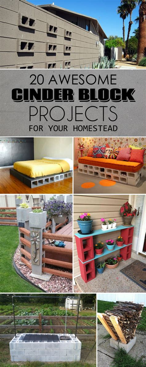 diy homestead projects 20 awesome diy cinder block projects for your homestead