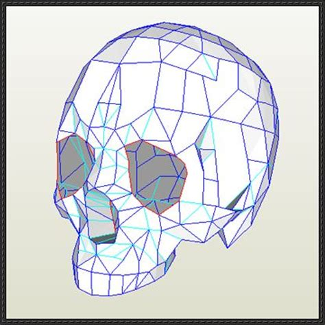 Papercraft Human - papercraftsquare new paper craft human skull ver 3