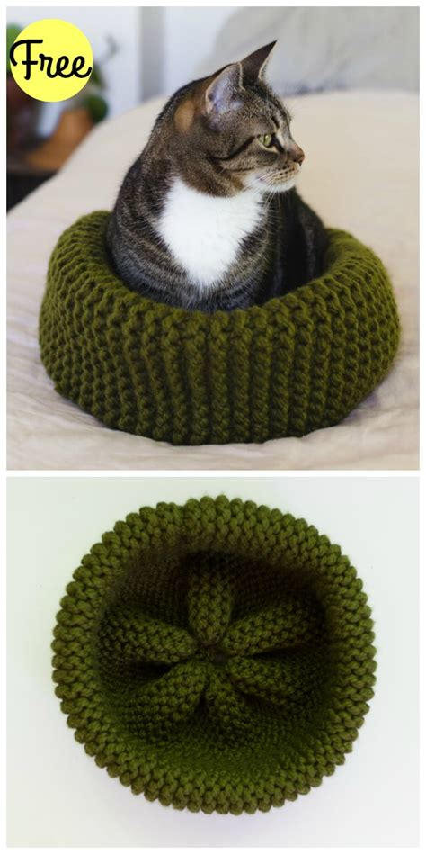 free knitting pattern cat bed cat bed free knitting pattern