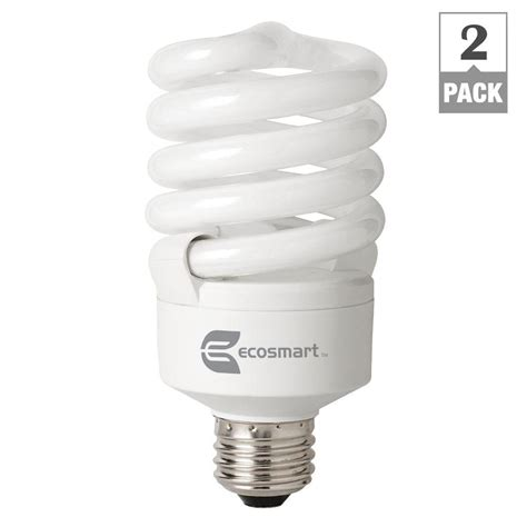 ecosmart light bulbs warranty ecosmart 100w equivalent daylight 6500k spiral dimmable