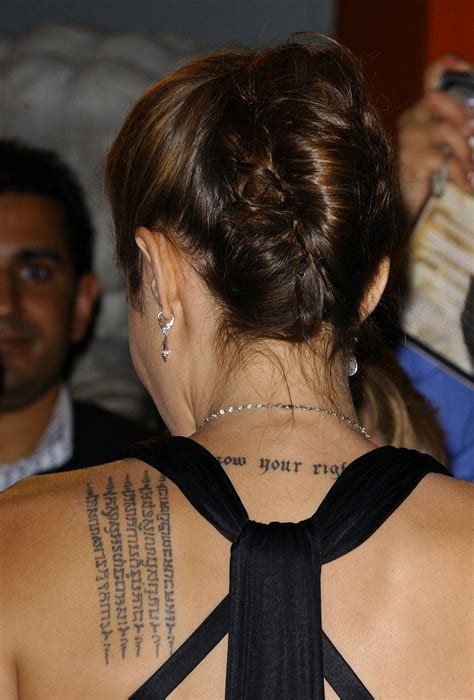 angelina jolie tattoo type angelina jolie s back tattoo heathcare is propping up the