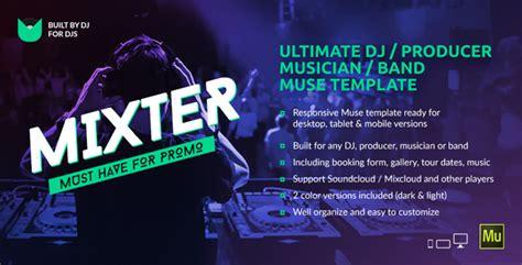 Mixter Ultimate Dj Producer Musician Band Website Muse Template By Vinyljunkie Producer Website Template