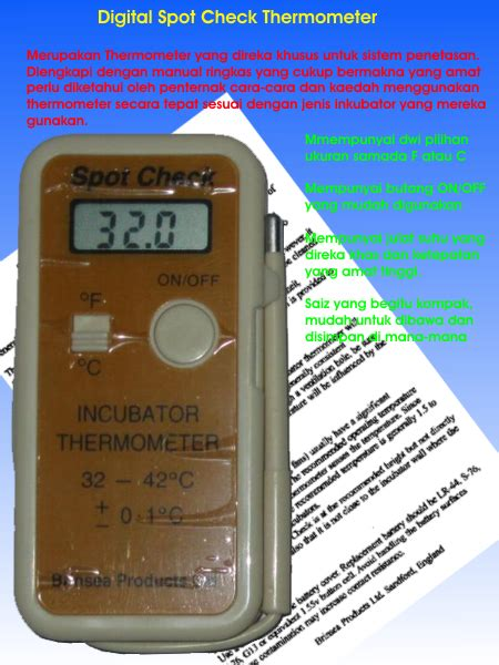 Termometer Digital Di Malaysia mesin penetas telur automatik spot check digital