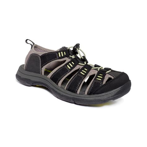 dockers s sandals dockers pershing sandals in black for lyst