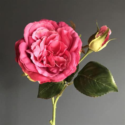 5pcs Fresh Pink Tea High Artificial Flower Home Cabbage Roses Pink Heavenlyhomesandgardens Co Uk