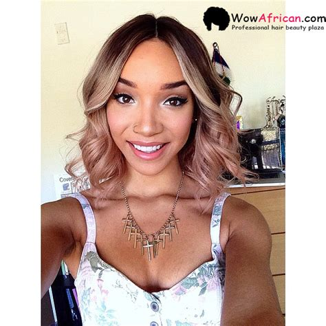 raven elyse short hair ciara ombre brazilian hair lace wig clw26 wowafrican com