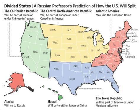 sections of the us russian professor predicts breakup of us in 2010 the