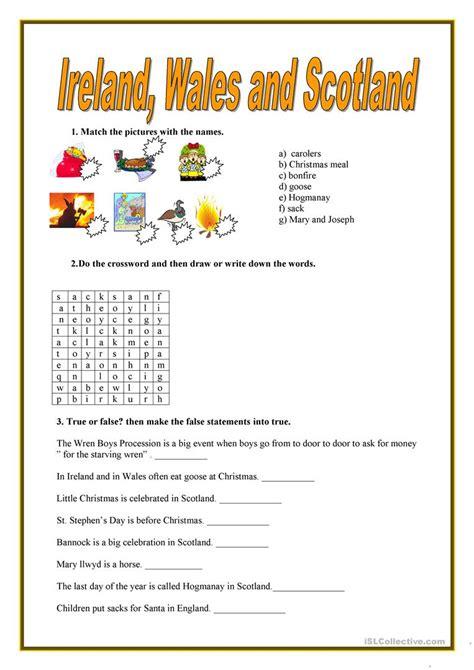 printable quiz about scotland ireland wales and scotland quiz worksheet free esl