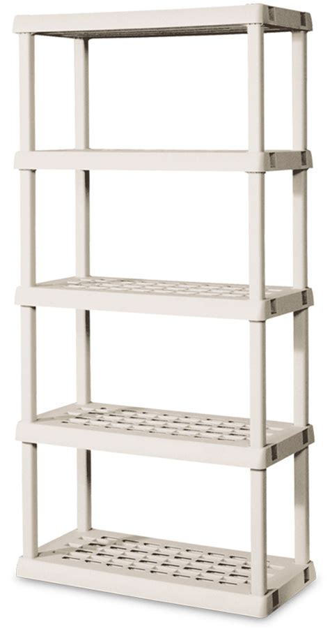 sterilite 01558501 heavy duty 5 shelf shelving storage