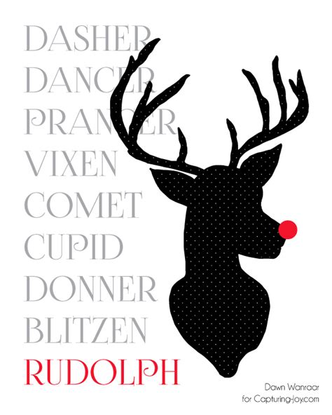free printable reindeer names patterned reindeer printables