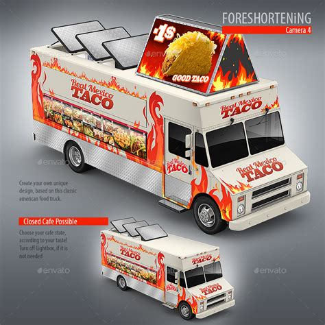 food truck award design food truck taco truck step van mock up by bennet1890