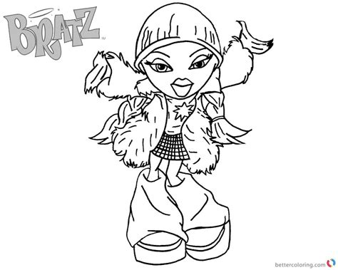 bratz coloring pages that you can print bratz coloring pages dancing babyz girl free printable