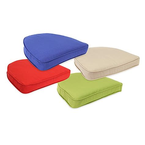 curved patio chair cushions solar curved seat cushions www bedbathandbeyond