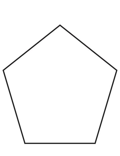 pentagon coloring page download free pentagon coloring