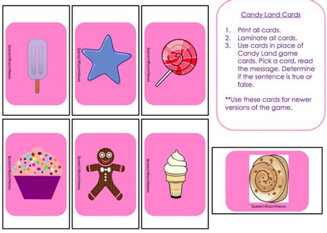 candyland cards template 4 best images of printable candyland pieces