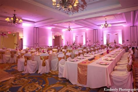 Indian wedding reception lighting decor in Tampa, Florida
