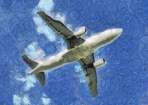 painting airplane jet airplane painting free stock photo domain