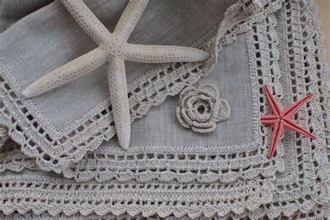 manteles tejido a crochet con tela manteles individuales en lino y crochet crochet