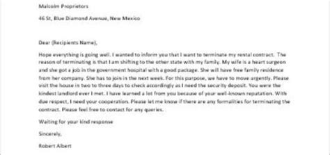 Contract Termination Thank You Letter Letter For Early Termination Of Lease Contract Writeletter2
