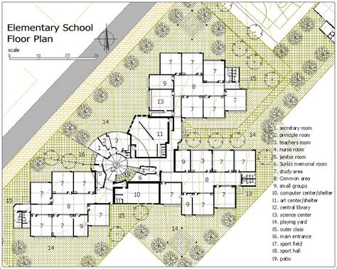 school floor plan design elementary school building design plans surkis elementary school kfar saba israel