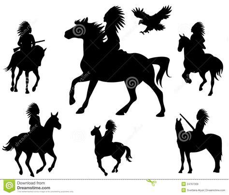 vetor de dois cavaleiros imagens de stock royalty free vetor dos cavaleiros do nativo americano imagens de stock